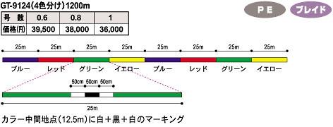 GT-9124(4色分け)1200m